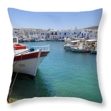 Naoussa - Paros Throw Pillow by Joana Kruse