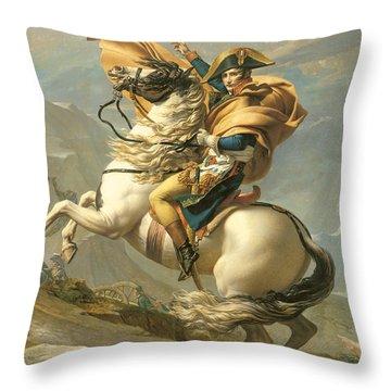 Napoleon Throw Pillow by Jacques Louis David