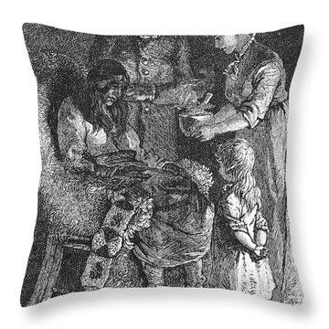 Narcissa Prentiss Whitman Throw Pillow by Granger