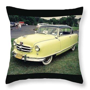 Throw Pillow featuring the photograph Nash Rambler by John Schneider