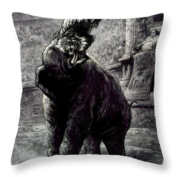 Nast: Spoils System Throw Pillow by Granger