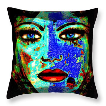 Nat 10 Throw Pillow by Natalie Holland