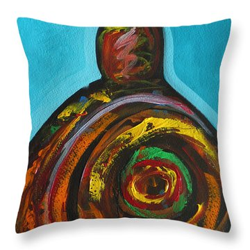 Native Abstract Throw Pillow by Lance Headlee