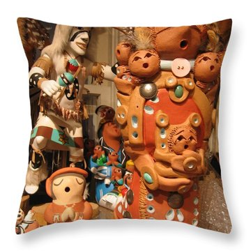 Throw Pillow featuring the photograph Native  American Folk Art by Dora Sofia Caputo Photographic Art and Design