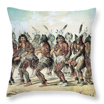 Native American Indian Bear Dance Throw Pillow