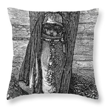Native American Papoose: Ute, 1879 Throw Pillow by Granger