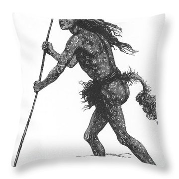Native American Shaman Throw Pillow by Science Source