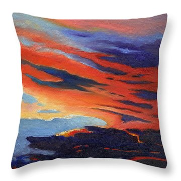 Natural Light Throw Pillow by Catherine Twomey