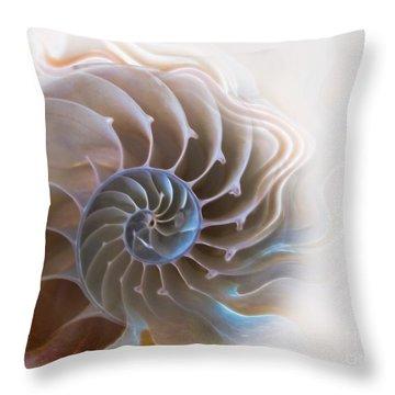 Natural Spiral Throw Pillow