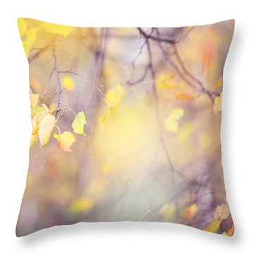 Natural Watercolor Of Autumn Throw Pillow by Jenny Rainbow