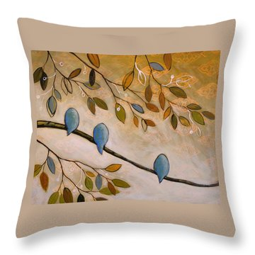 Nature Birds Painting...peaceful Garden Throw Pillow