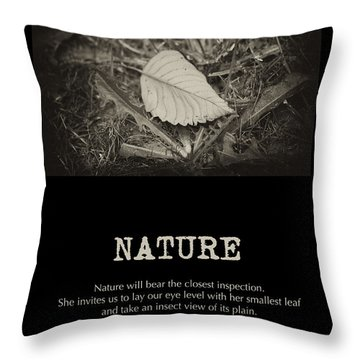 Nature Throw Pillow by Bonnie Bruno