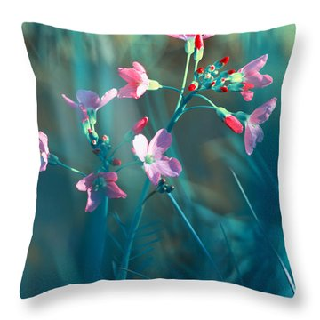 Nature Fantasy Throw Pillow by Tanja Riedel
