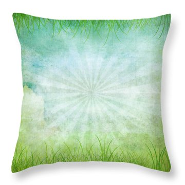 Nature Grunge Paper Throw Pillow by Setsiri Silapasuwanchai
