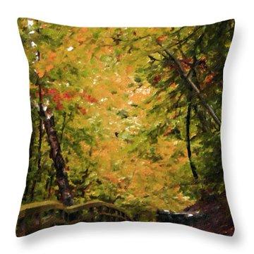 Throw Pillow featuring the photograph Nature In Oil  by Deniece Platt