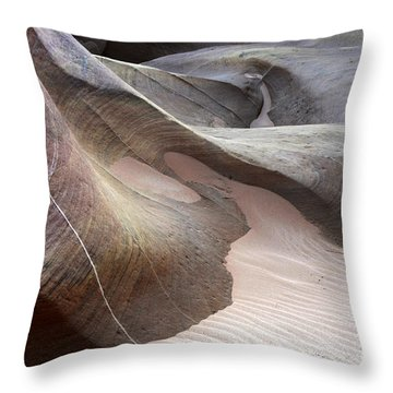 Nature's Artistry In Stone Throw Pillow by Bob Christopher
