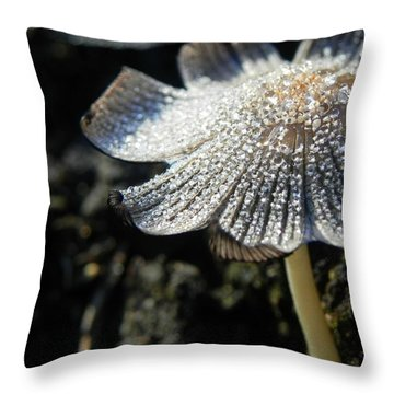Nature's Bling Throw Pillow by Leah Moore