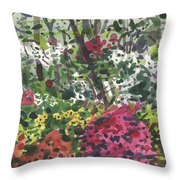 Throw Pillow featuring the painting Nature's Chaos by Donald Maier