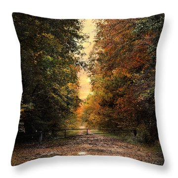 Nature's Secret Throw Pillow by Jai Johnson