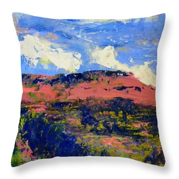 Nature's Table Throw Pillow by Carol Bower