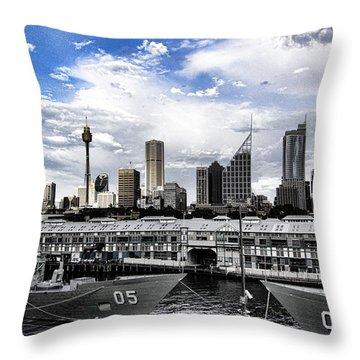 Naval Security Throw Pillow by Douglas Barnard