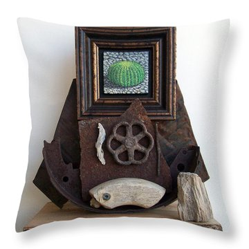 Navigate South Throw Pillow by Snake Jagger