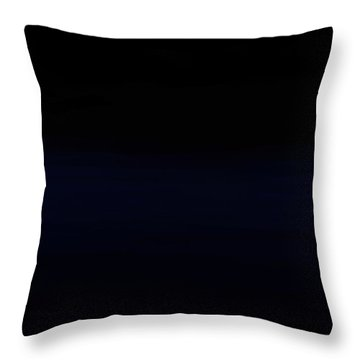 Navy Black Throw Pillow