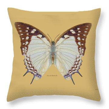 Nawab Butterfly Throw Pillow