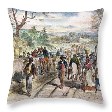 Nc: Freed Slaves, 1863 Throw Pillow by Granger