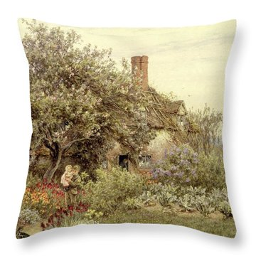 Near Hambledon Throw Pillow by Helen Allingham