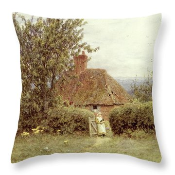 Near Haslemere Throw Pillow by Helen Allingham