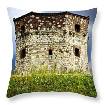 Nebojsa Tower In Belgrade Throw Pillow