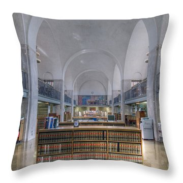 Throw Pillow featuring the photograph Nebraska State Capitol Library by Art Whitton