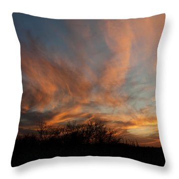 Nebraska Sunset Throw Pillow