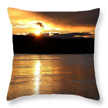 Throw Pillow featuring the photograph Nebraska Sunset by Elizabeth Winter