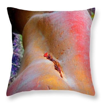 Throw Pillow featuring the digital art Nectar by Richard Laeton