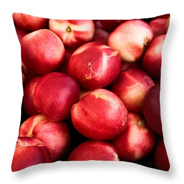 Nectarines Throw Pillow by Tanya Harrison