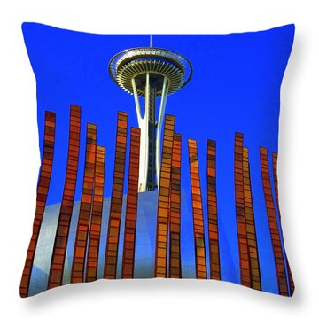 Needle In A Haystack Throw Pillow by Randall Weidner