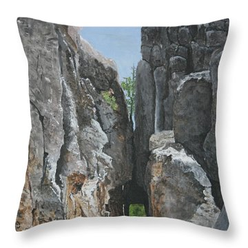Needles Highway Throw Pillow by Betty-Anne McDonald