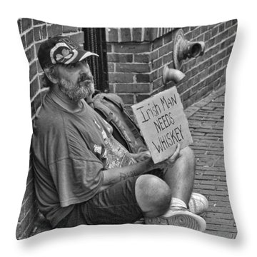 Needs Whiskey Throw Pillow by Joann Vitali