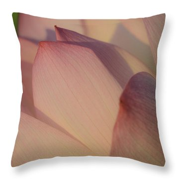 Nelumbo 'red Scarf' Throw Pillow by Perla Copernik