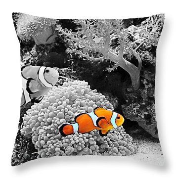 Nemo At Home Throw Pillow by Nick Kloepping
