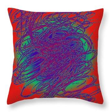 Neon Poster. Throw Pillow