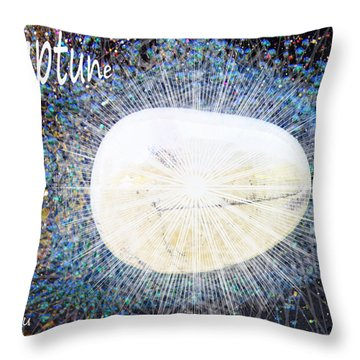 Neptume In Libra Throw Pillow by Augusta Stylianou