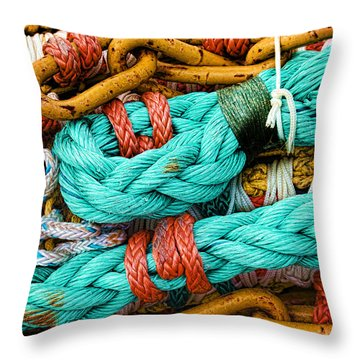 Nets And Knots Number Four Throw Pillow