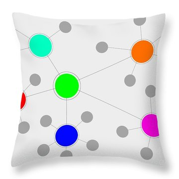 Network Throw Pillow by Henrik Lehnerer
