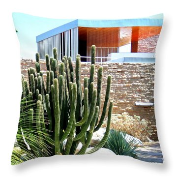 Neutra's Kaufmann House Throw Pillow