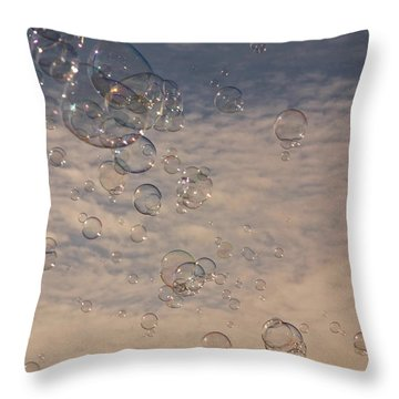 Never Give Up Throw Pillow by Jeannette Hunt