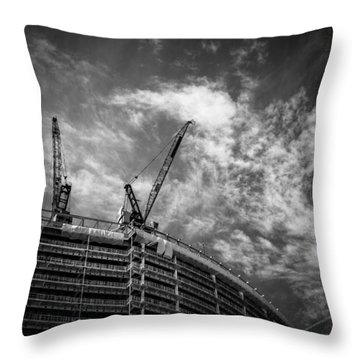 New Buildings Throw Pillow