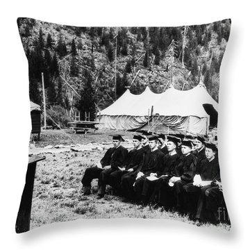 New Deal: C.c.c., 1936 Throw Pillow by Granger